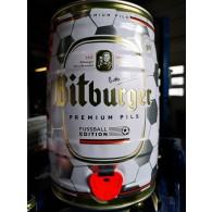 Bitburger Pils Fussballedition 5,0 L Partyfass